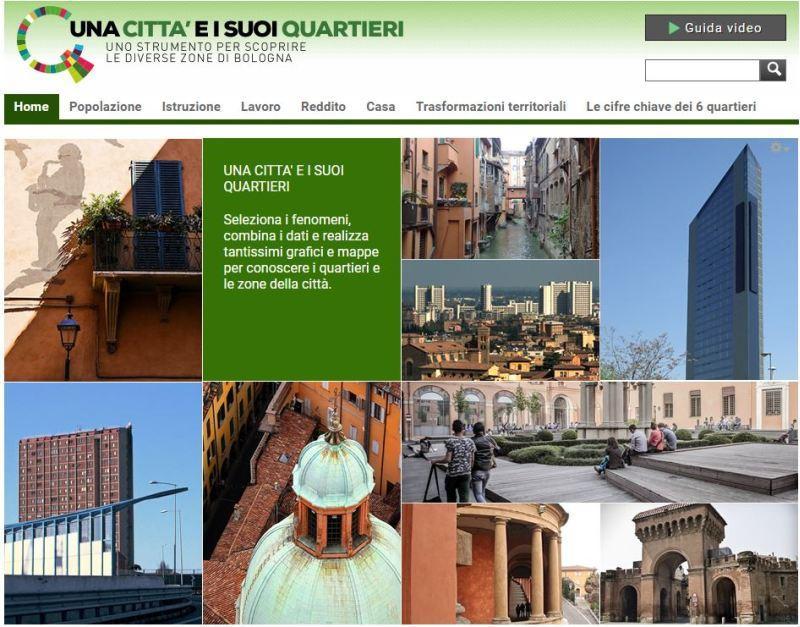 immagine del homepage sito quartieri