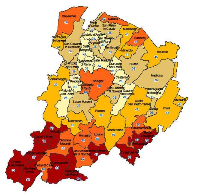 mappa sintetica fragilità CM 2019