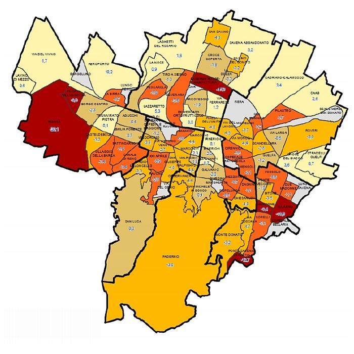 Bologna Cartina Quartieri.Periferie A Bologna Vulnerabilita E Opportunita Una Proposta Di Misurazione Per Le Citta Italiane I Numeri Di Bologna